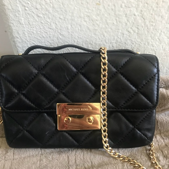 512783734f41 Michael Kors Sloan Small Quilted-Leather Crossbody.  M 5b847e1f2aa96acc420d5042